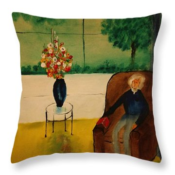 Henry Thoreau Throw Pillow