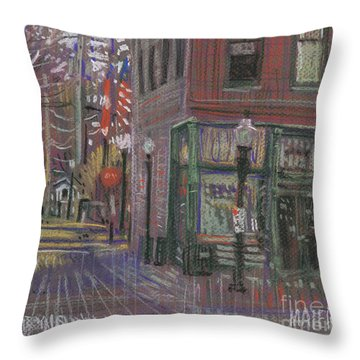 Throw Pillow featuring the painting Henry's by Donald Maier