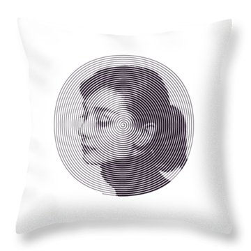 Hepburn Throw Pillow by Zachary Witt