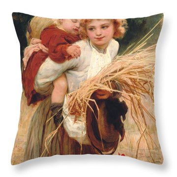 Hay Rides Throw Pillows