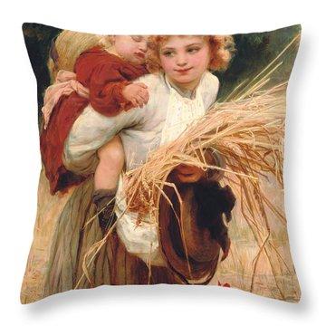 Hay Ride Throw Pillows