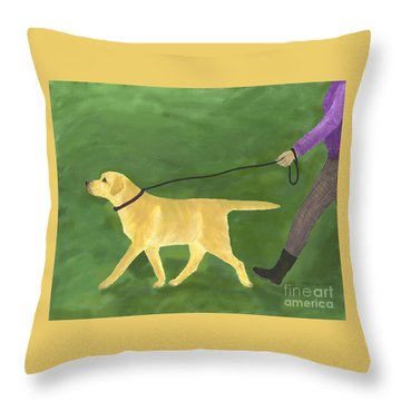 Her Dog Took Her Everywhere Throw Pillow