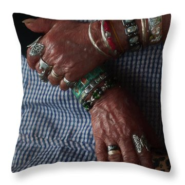 Her Jewelry Throw Pillow by Travis Burgess