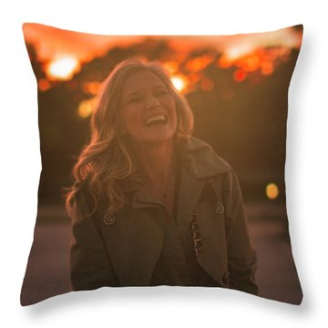 Her Laugh Throw Pillow