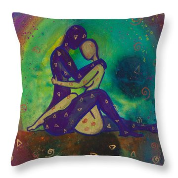 Her Loves Embrace Divine Love Series No. 1006 Throw Pillow