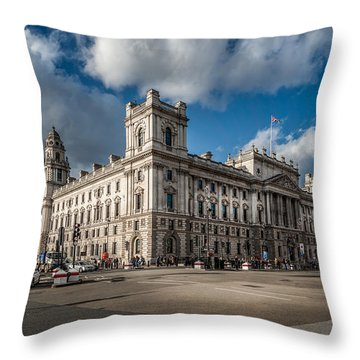 Her Majesty's Treasury Throw Pillow