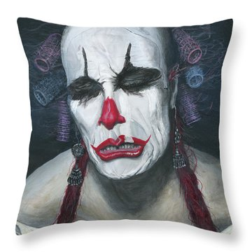 Her Tears Throw Pillow