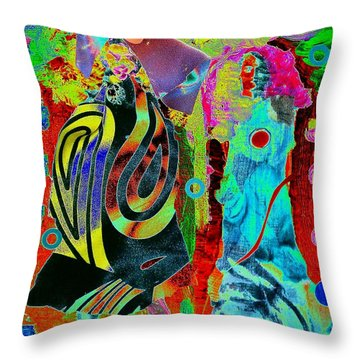Her Time Has Come Throw Pillow