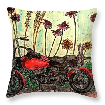Her Wild Things  Throw Pillow