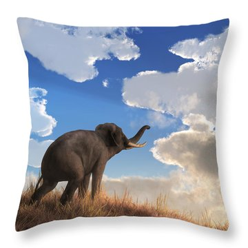 Heralding The Dawn Throw Pillow by Daniel Eskridge