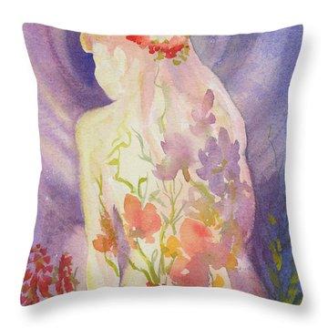 Herbal Goddess  Throw Pillow