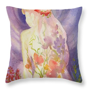 Herbal Goddess  Throw Pillow