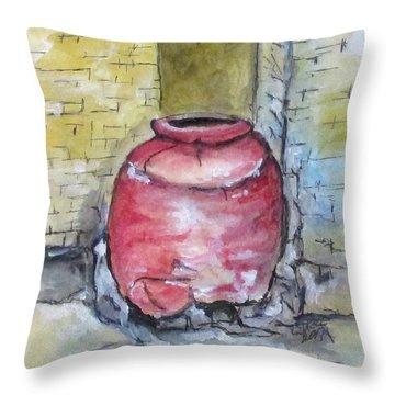 Herculaneum Amphora Pot Throw Pillow