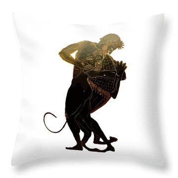 Hercules And The Nemean Lion Throw Pillow by Tracey Harrington-Simpson