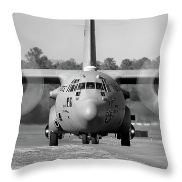 Hercules In Black And White Throw Pillow