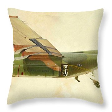 Hercules Paratroop Drop Throw Pillow