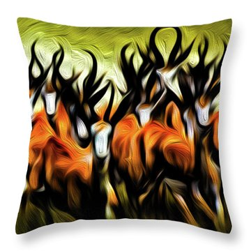 Herd Throw Pillow by Bruce Iorio