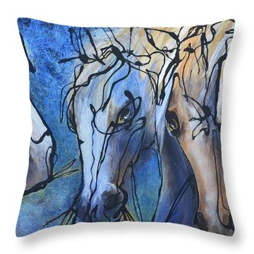 Herd Dynamics Throw Pillow