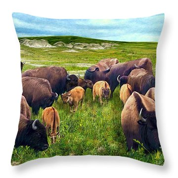 Herd Hierarchy Throw Pillow