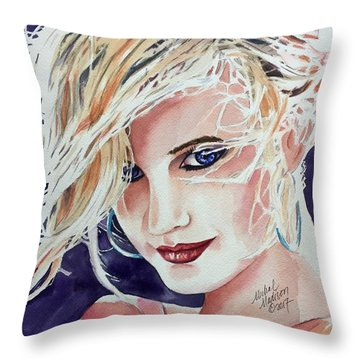 Throw Pillow featuring the painting Here And Now by Michal Madison