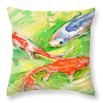 Here Comes Moby Throw Pillow by Judith Levins