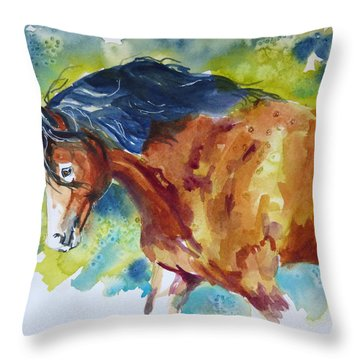 Here Comes Beauty Throw Pillow