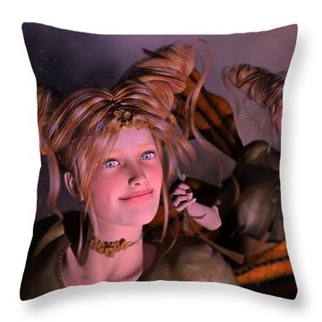 Here Comes Sunshine For Jerry  Throw Pillow