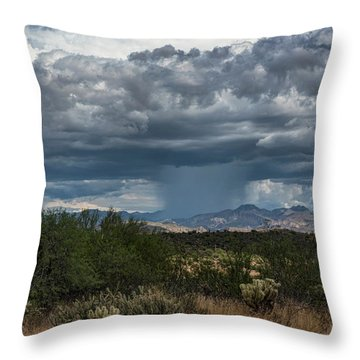 Throw Pillow featuring the photograph Here Comes The Rain Again by Saija Lehtonen