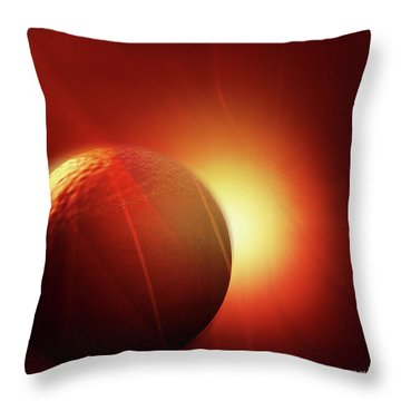 Here Comes The Sun Throw Pillow by John Krakora