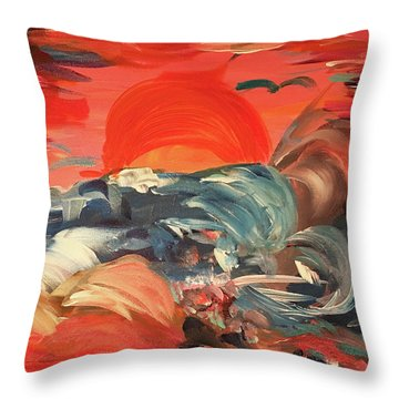 Here Comes The Weekend Aka Indian Rocks Beach Sunset Throw Pillow
