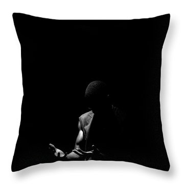 Throw Pillow featuring the photograph Here by Eric Christopher Jackson