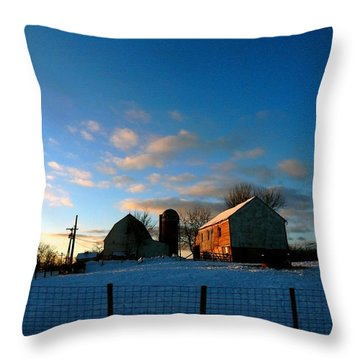 Here It Comes Throw Pillow