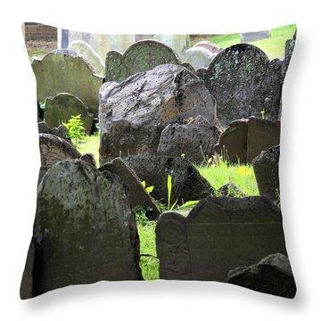 Here Lyeth Throw Pillow