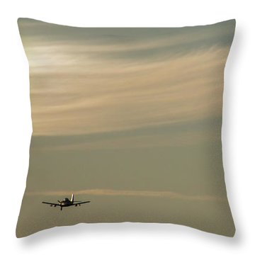 Here We Go Into The Wild Blue Yonder Throw Pillow