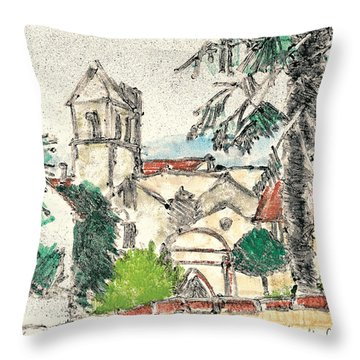 Herepian Village In Provence Throw Pillow