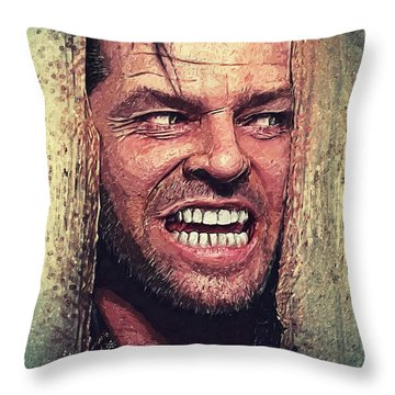 Here's Johnny - The Shining  Throw Pillow