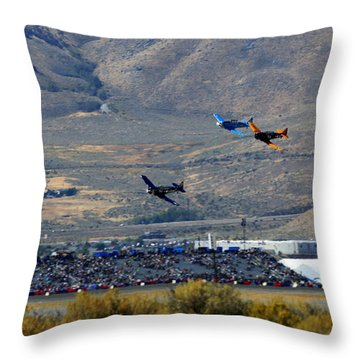 Here's Looking Back At You.  T6 Race. Throw Pillow