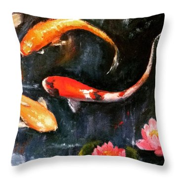 Here's Some Zen For The Day. :) #koi Throw Pillow