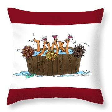 Here's To Us Throw Pillow