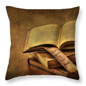 Here's Where I Fell Asleep Throw Pillow
