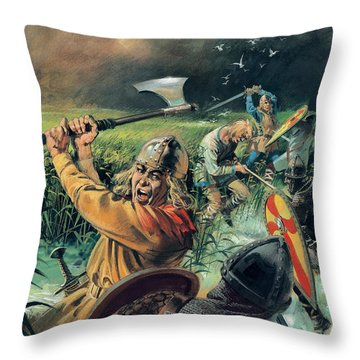 Hereward The Wake Throw Pillow by Andrew Howat