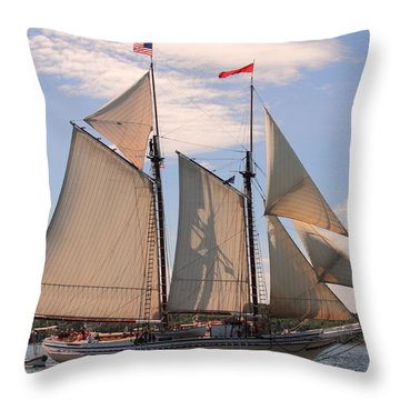 Heritage Full Sail Throw Pillow