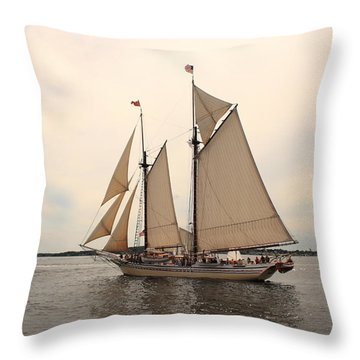 Heritage In Penobscot Bay Throw Pillow