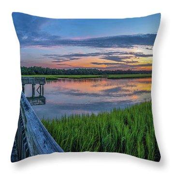 Heritage Shores Nature Preserve Sunrise Throw Pillow