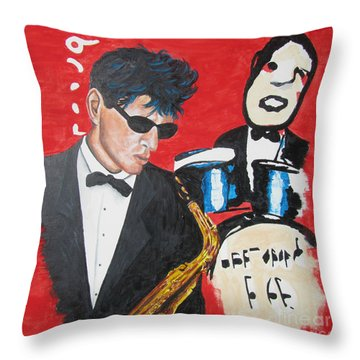 Herman Brood Jamming With His Art Throw Pillow
