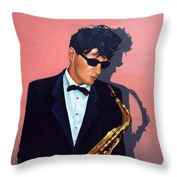 Herman Brood Throw Pillow
