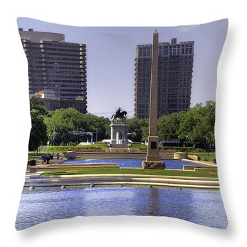 Hermann Park Throw Pillow