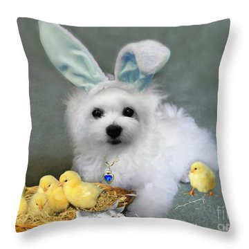 Hermes At Easter Throw Pillow