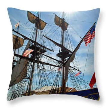 Hermione At Dock Throw Pillow