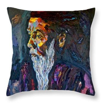 Hermit At Golden Rock, Burma Throw Pillow